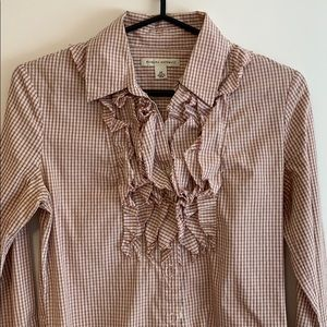 2/$20 Banana Republic Checked Button Up Shirt xs